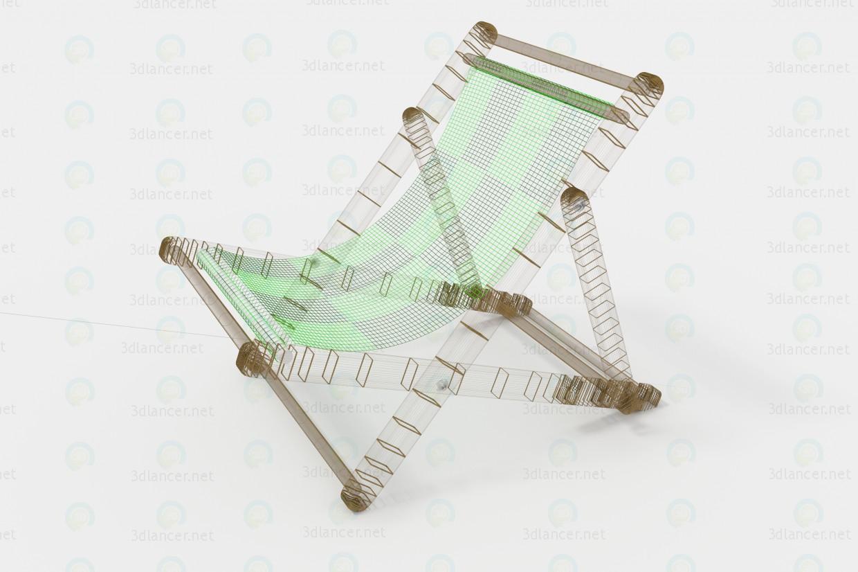 3d Deck chair model buy - render