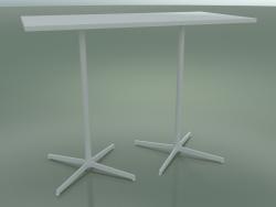 Tavolo rettangolare con doppia base 5517, 5537 (H 105 - 69x139 cm, Bianco, V12)