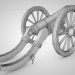 3d High-angle gun model buy - render