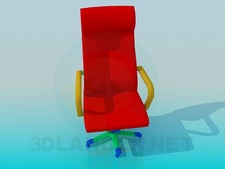 3d model Chair with wheels for children's room - preview