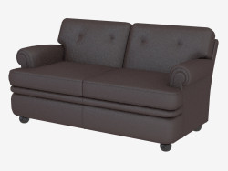 Leather sofa double classic