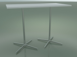 Rectangular table with a double base 5517, 5537 (H 105 - 69x139 cm, White, LU1)
