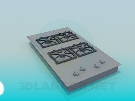 descarga gratuita de 3D modelado modelo Superficie de gas