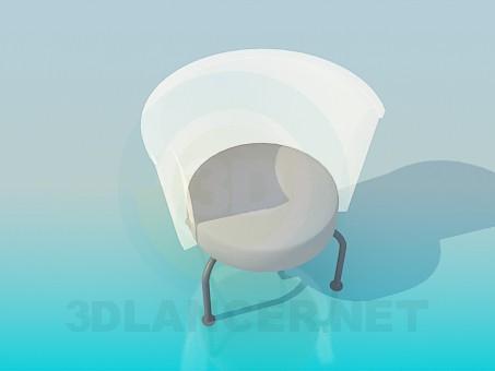 3d модель Стульчик с прозрачной спинкой – превью