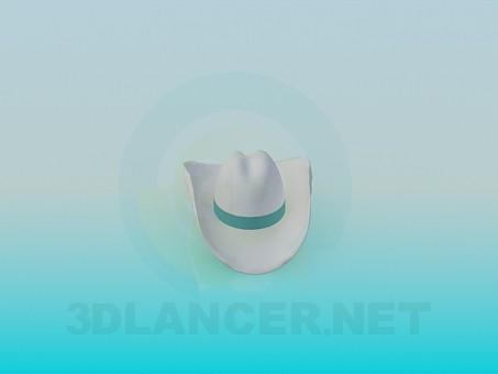modelo 3D Sombrero de vaquero - escuchar