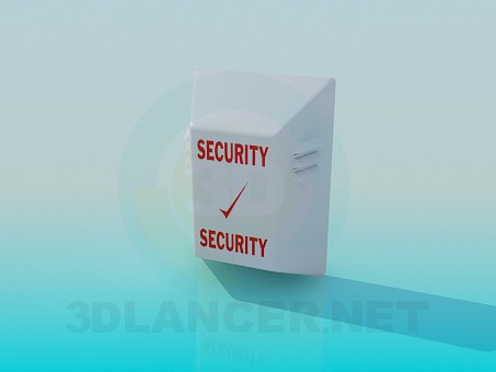 3d model Security speaker - preview