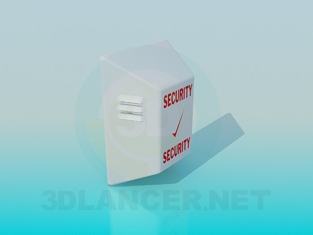 modelo 3D Altavoz de seguridad - escuchar