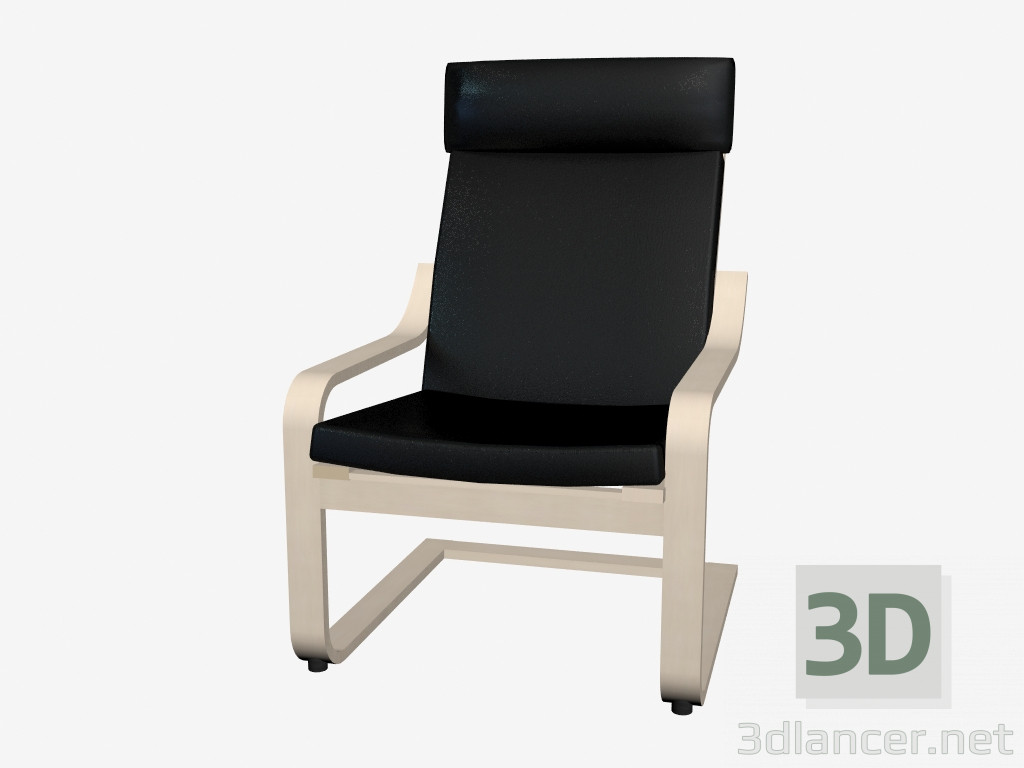 Poltrona Poang Ikea.Download Gratuito Di Modello 3d Poltrona Poang 2 Ikea Max