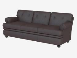 Leather sofa triple classic