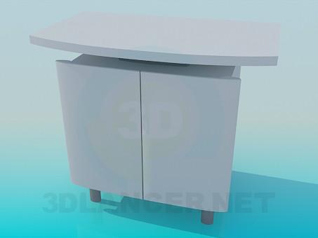 3d модель Тумба под телевизор – превью