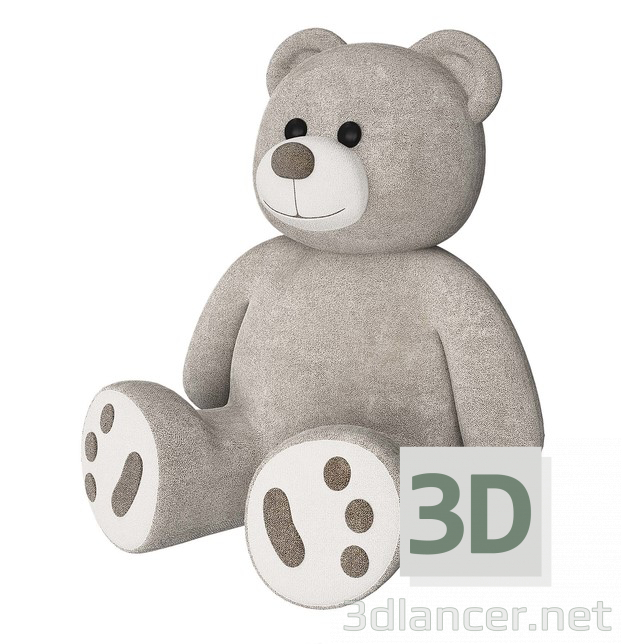 3d model teddy bears - preview