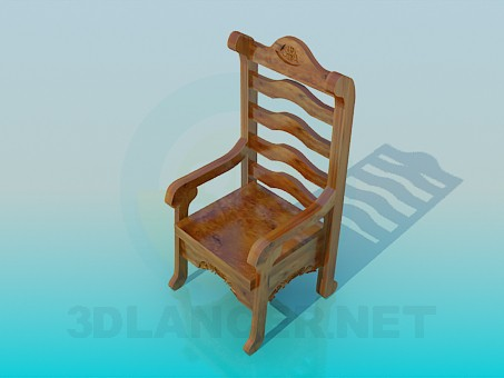 3d modeling Wooden chair model free download