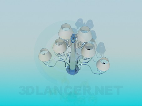 3d model Three-level chandelier - preview