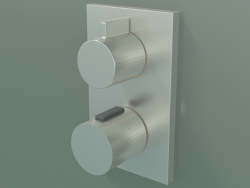 Built-in thermostat for shower and bath, with two outlet points (36 426 670-060010)