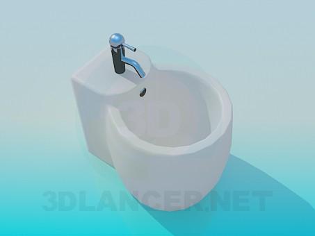 descarga gratuita de 3D modelado modelo Bidé-barril