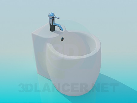 3d model Bidet-keg - preview