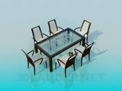 Set-table with chairs