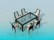 सेट-टेबल कुर्सियों के साथ