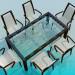 3d модель Комплект - стіл зі стільцями – превью