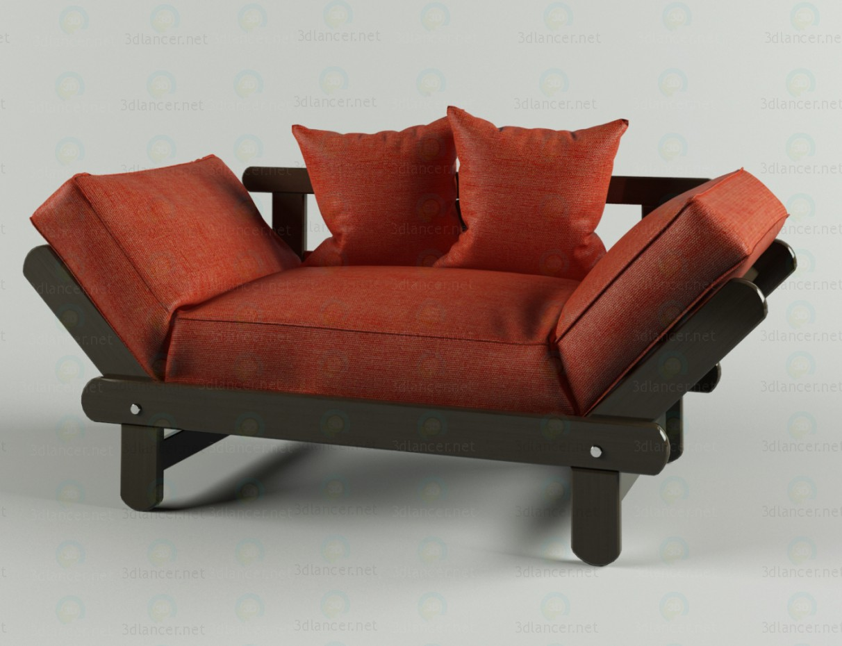 Couch CITY paid 3d model by Doroteya preview