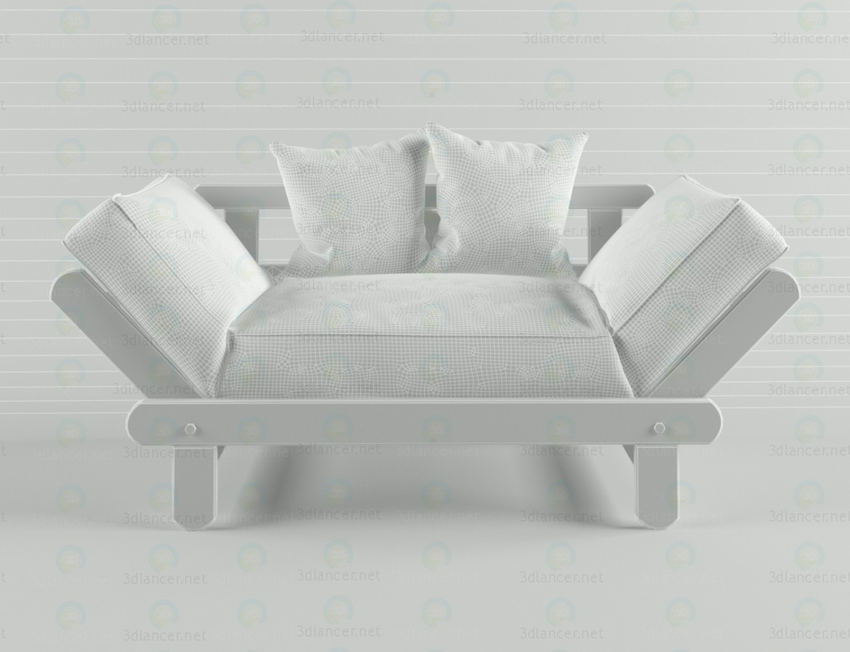 3d Couch CITY model buy - render