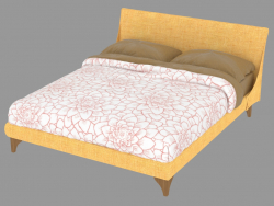 Double bed with removable Meridiana upholstery
