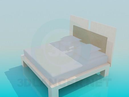 3d модель Ліжко двомісна – превью