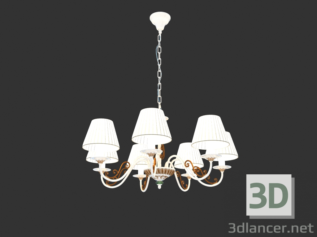 3d model Chandelier SUNRISE (ARM290-07-G01),Maytoni max(2013