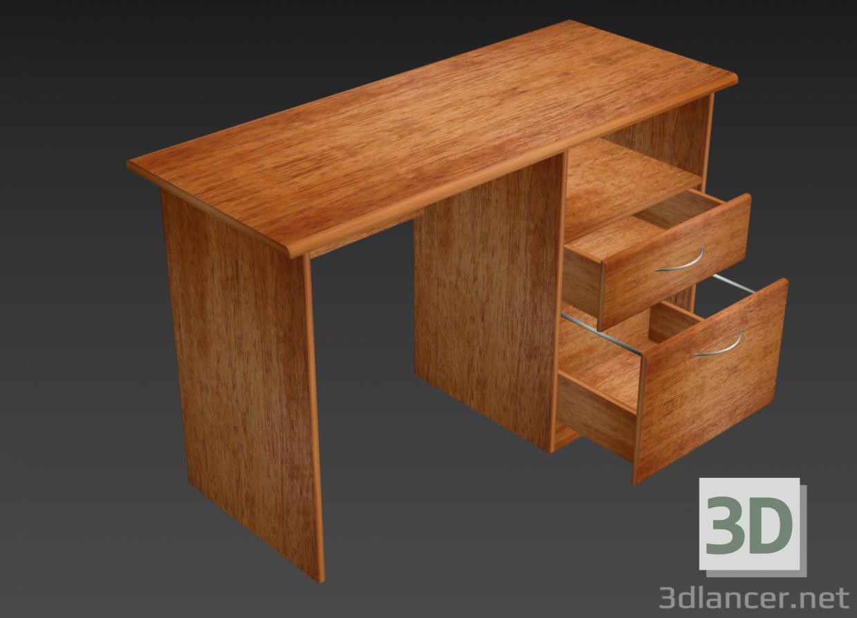 3d Writing desk model buy - render