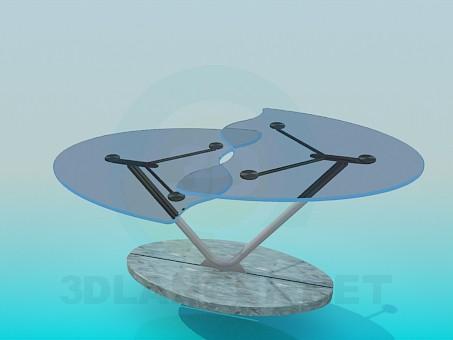 modelo 3D Mesa de centro de inusual - escuchar