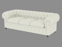 Classic Triple Leather Sofa