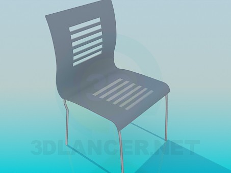 3d modeling Chair with bars on the back model free download