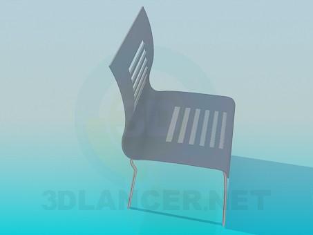 modelo 3D Silla con barras en la parte posterior - escuchar