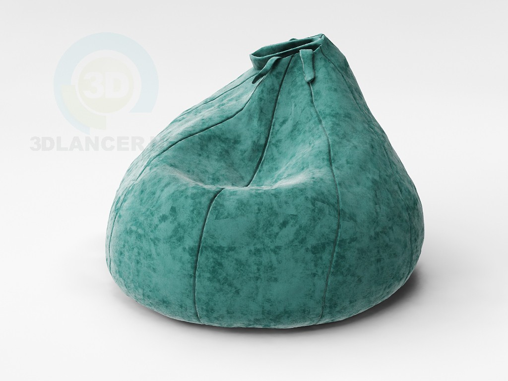 Modelo 3d Pouf de bulbo - preview