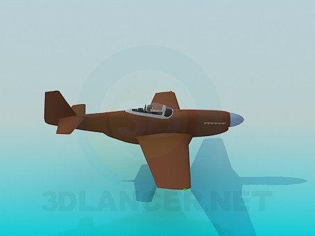 3d модель P51D Mustang – превью