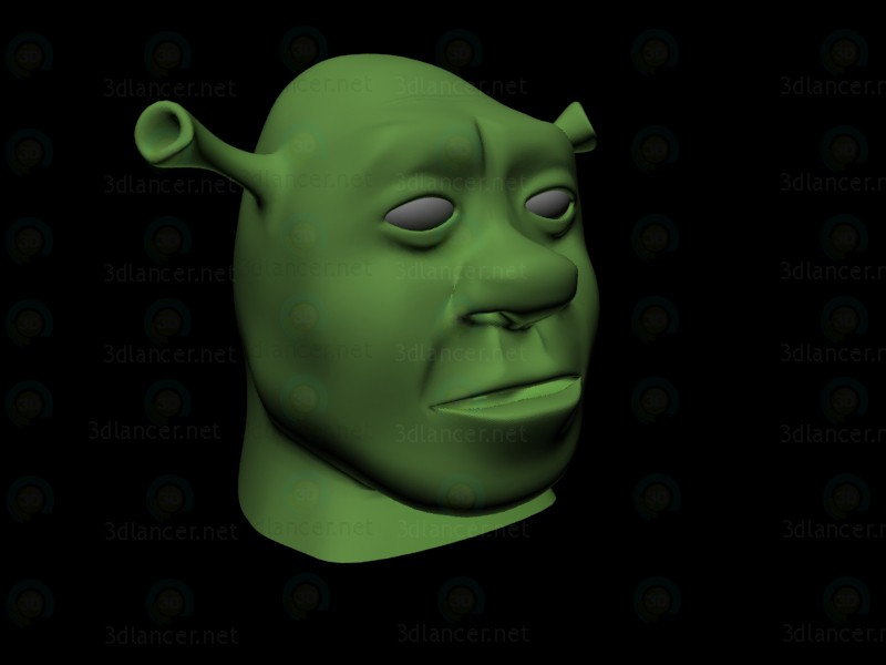 3d modeling Shrek head model free download