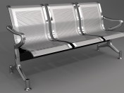 Sedia in metallo per interni