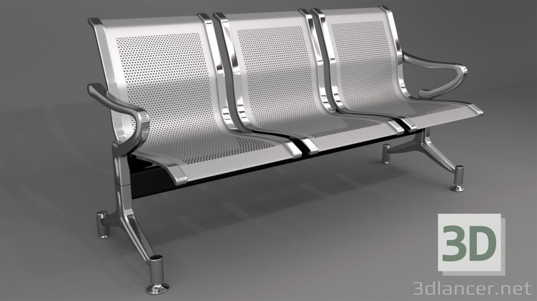 3d моделирование Металический стул для помещений модель скачать бесплатно