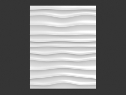 Decorative panel Choppy