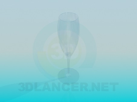 3d model Crystal wine glass - preview