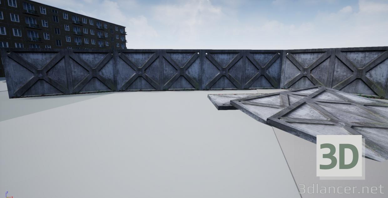 3d model Concrete fence - preview