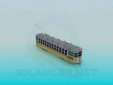 3d модель трамвайный вагон – превью