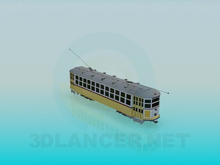 3d model Tramcar - preview