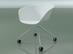 Chaise 4207 (4 roulettes, PP0001)