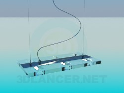 Suspension luminaire plat