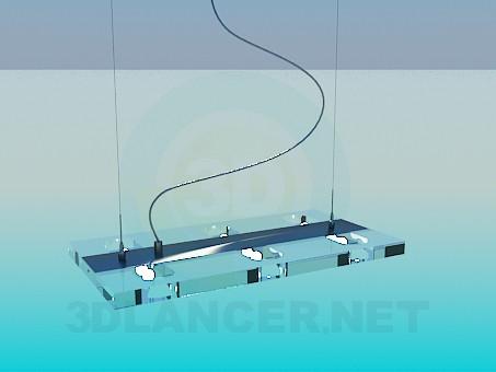 3d modeling Hanging flat luminaire model free download