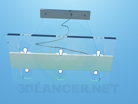 3d model Hanging flat luminaire - preview