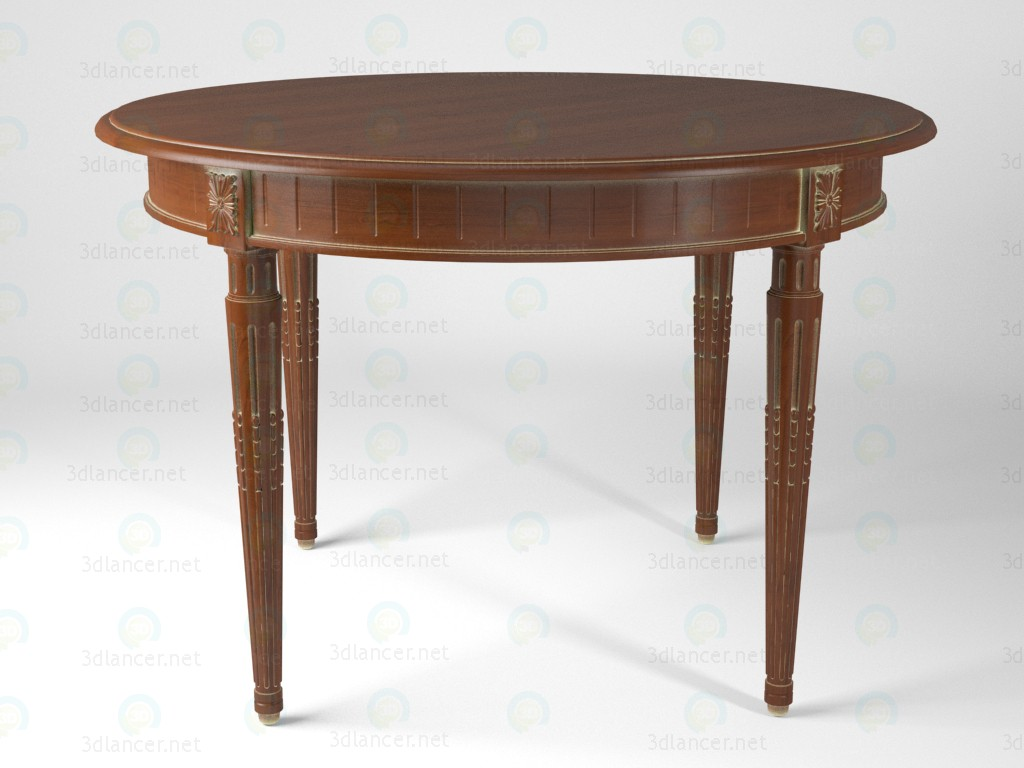 3d модель neoclassic_round_coffee_table – превью