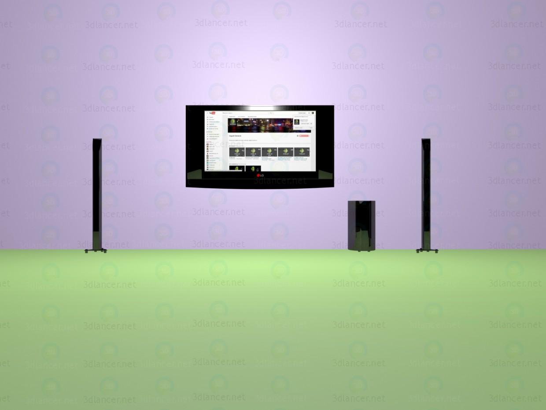 modelo 3D LG-TV - escuchar