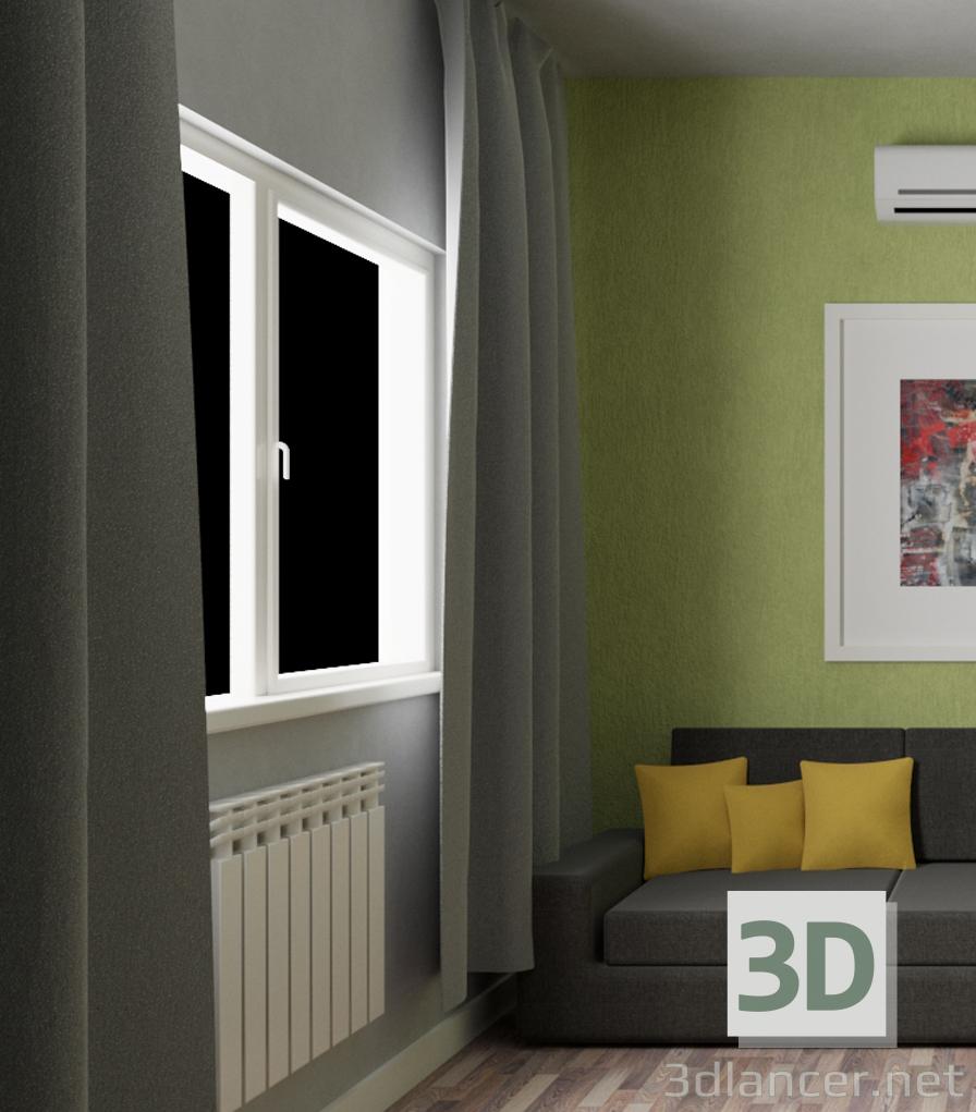 3d model blind - preview